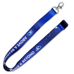 Pinmart's Above And Beyond Employee Recognition Lanyard Name Badge Id Holder