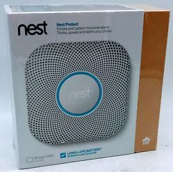 Nest 2nd Generation Smart Smoke/carbon Monoxide Alarm Battery Brand New In Box