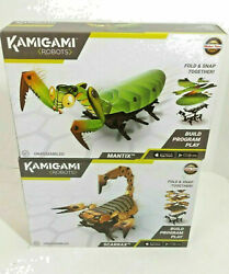 Kamigami Scarrax And Mantix Programmable Robots New Pair
