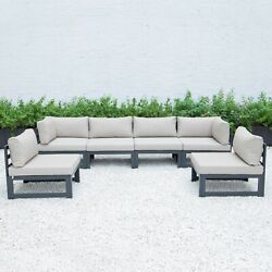 Leisuremod Chelsea 6-piece Outdoor Patio Sectional Sofa Set With Cushions