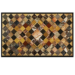 30and039and039x17and039and039 Black Marble Coffee Table Top Handmade Inlay Pietra Dura Antique