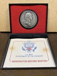 America's First Medals - Washington Before Boston - Us Mint Pewter
