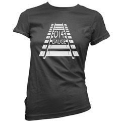014 Gauge Womens T-shirt Pick Colour And Size Gift Present Model Railway Train