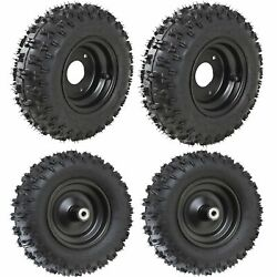 4 Pack Of 6 Inch 4.10-6 Tire Wheel Tires Snow Thrower Lawn Blower Mower Go Cart