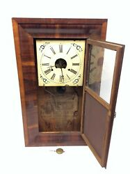 Antique Old Ogee Ansonia Clock Company Wall Hanging Clock With Pendulum Parts