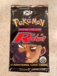 Pokemon Team Rocket 1st Edition Wotc Unweighed Booster Pack Factory Sealed 🔥🔥