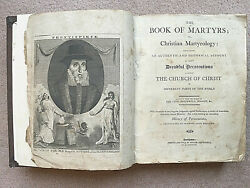 The Book Of Martyrs Or Christian Martyrology, Sowler And Russell 1795/7 Scarce.