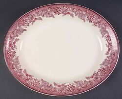 Wedgwood Williams Sonoma England Mayfair 16 Oval Serving Platter Discontinued