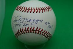 Joe Dimaggio Autographed Official American League Baseball Numbered With Coa