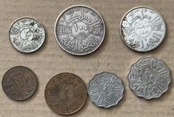 Iraq 7 Pcs. Set Of 1953 Kg.faisal 2nd Issue In Vf++ Condition ..good Coins