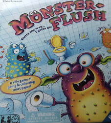 New Ravensburger Silly Toilet Paper Board Game Monster Flush All Ages Players