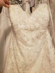 Nwt Alfred Angelo 2550w Size 22 White Wedding Dress 21 Off New Year Sale