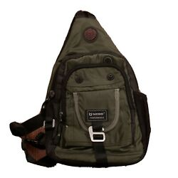 Nicgid Sling Bag Backpack Crossbody for Ipad Tablet Outdoor Hiking Army Green $23.99