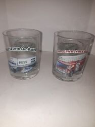 Lot Of Two Hess 1996 Classic Truck Series Glasses