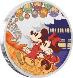 Niue 2020 Year Of The Mouse Mickey Happiness Disney Silver Coin 999 1 Oz