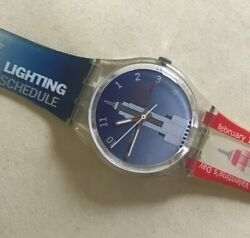 Swatch Watch New York City 'empire State Building Lighting Schedule' Collectible