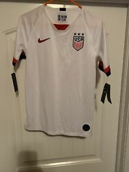 New Nike Team Usa Womens Exclusive Authentic Soccer Jersey Size Youth Xl White