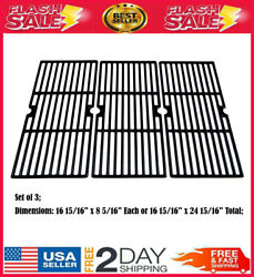 Cast Iron Cooking Grates Grid 3-pack For Charbroil Performance 3 Burner Grills
