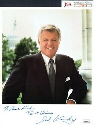 Jsa Ted Kennedy Autographed Signed Auto Personalized Inscr 8x10 Photo Trb 544