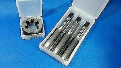 4x 1 X 10 Bsf Tpi High Carbon Steel Taps And Die Plastic Boxed