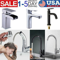 Waterfall Deck Mount Bathroom Basin Sink Mixer Faucet /pull-out Kitchen Faucet