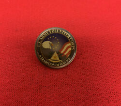 Vintage Us Army Volunteer Corps A Tradition Of Service Lapel Pin