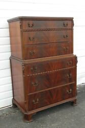 Chinese Chippendale Carved Tall Chest Of Drawers Joerns Brothers Furniture 1753