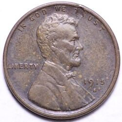 1915-s Lincoln Wheat Cent Penny Choice Au Free Shipping E889 Kmt