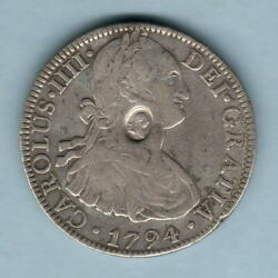 Great Britain Geo 111 - Emergency Issue 1.. Countermark On Mexico 1794 8 Reales