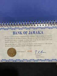 1977 Bank Of Jamaica 10, 5, 2, And 1 Four Crisp Uncirculated Currency Set