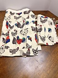 Egg Collecting Gathering Apron Kitchen Adult Child Mommy amp; Me Chicken Pattern