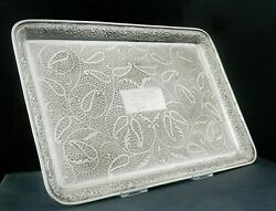 South Asian Silver Serving Tray In Original Case Saddar Karachi 20th Century