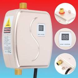 Portable Instant Electric Tankless Hot Water Heater Shower Kitchen Bathroom 110v