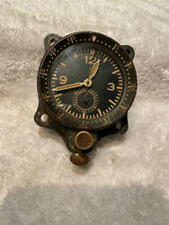 Vintage Low Serial Junghans Luftwaffe Military Aircraft Instrument Clock