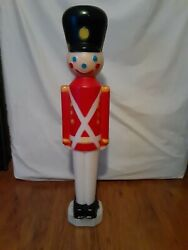 Vintage 31 Boy Toy Soldier Blow Mold Light Figure Christmas