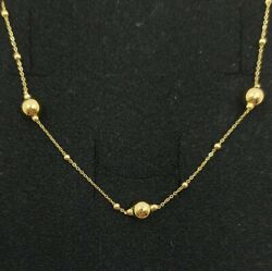 Necklace Gold 18k. With Pellets Of 0 3/16in And 0 1/16in Ref 604-305