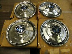 Nos Oem Ford 1964 Fairlane 500 Sports Coupe Wheel Covers Hub Caps Set