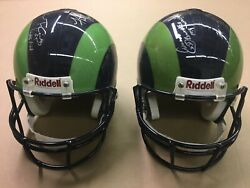 St. Louis Rams Set Of 2 Signed Nfl Helmets From 2000 Super Bowl