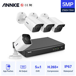 Annke 4k 8mp 8ch 5in1 Dvr H.265+ 5mp Security Camera System Outdoor Exir Night