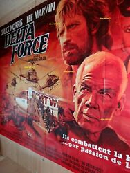 Chuck Norris Delta Force Poster French Giant Billboard Original 8 Panels
