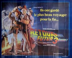 Back To The Future 3 Movie Poster French Billboard 8 Panels Retour Vers Le Futur