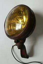 Vintage Red Guide Tractor Fog Light With Yellow Lens B61