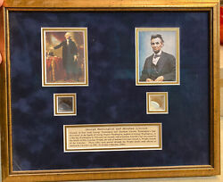 George Washington And Abe Lincolnandrsquos Hair Strands. Coa With Provenance