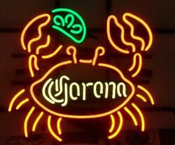 Neon Signs Gift Corona Extra Crab Beer Bar Pub Store Party Room Wall Decor 19x15