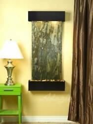 Cascade Springs-round-woodland Brown- Blue Wall Fountain New