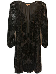 Gibson Latimer Ladies 2x Black Burn Out Velvet Dress Beautiful New With Tags