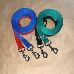 LONG DOG TRAINING LEASH 1quot; WIDE LEAD LARGE BREEDS RECALL OBEDIENCE USA MADE