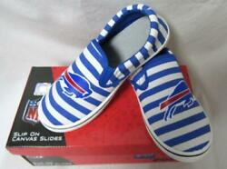 Buffalo Bills Womenand039s Slip On Canvas Slides Shoes Size 7 8 Or 9 B4 177