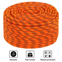 7/16 Double Braid Polyster Rope 200ft Nylon Pulling Rope 8400 Breaking Strength