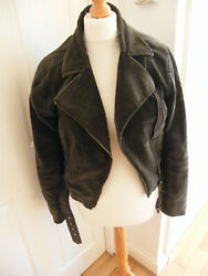 Velvet Feel Biker Jacket By H And M Size Eur 38 By H And M Vgc All Clean Lined